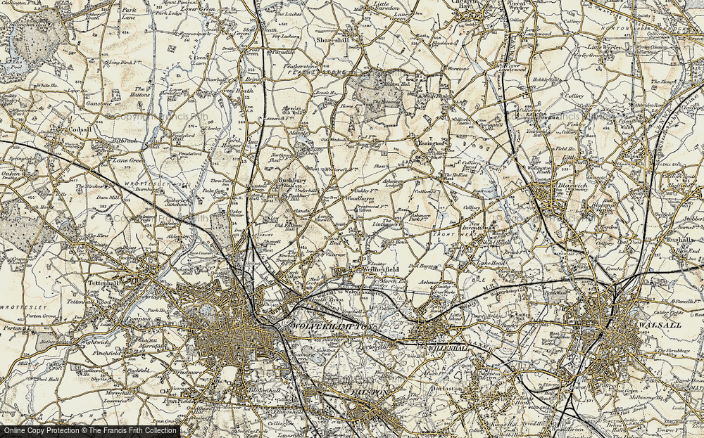 Old Map of Wood Hayes, 1902 in 1902