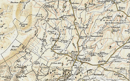 Old map of Laythams in 1903-1904