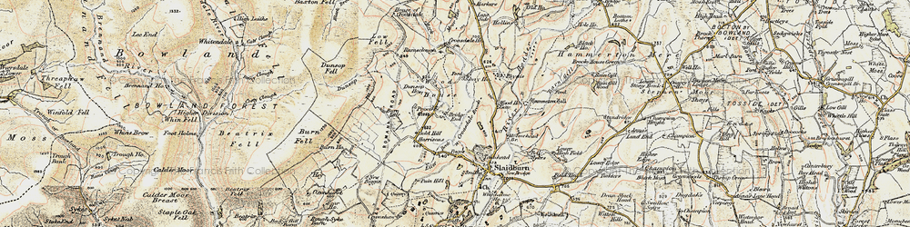 Old map of Wood House in 1903-1904