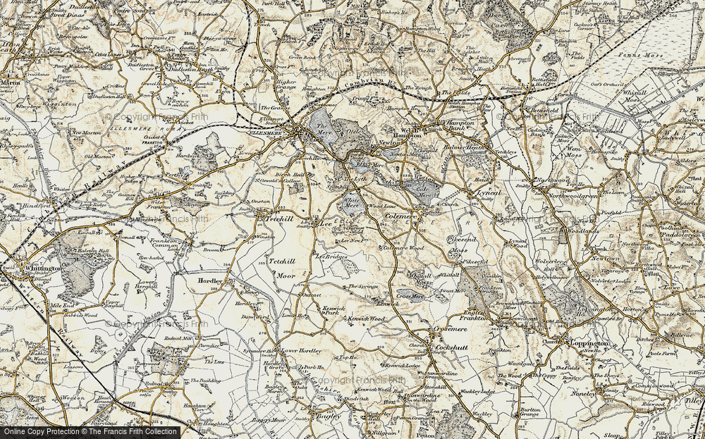 Old Map of Wood Lane, 1902 in 1902