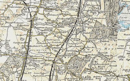 Old map of Wood Lanes in 1902-1903