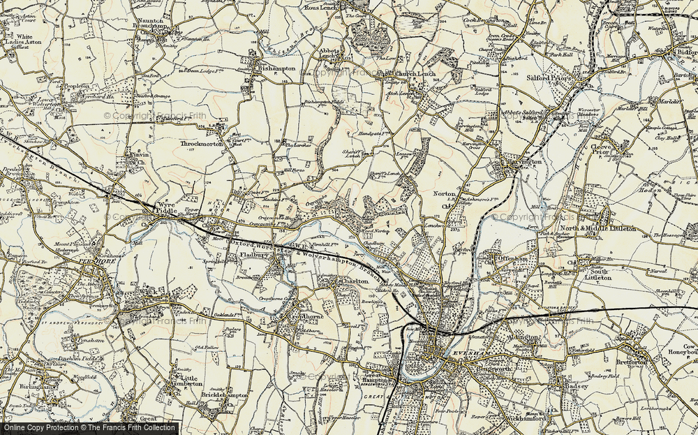 Old Map of Wood Norton, 1899-1901 in 1899-1901