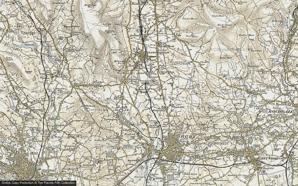 Old Map of Wood Road, 1903 in 1903