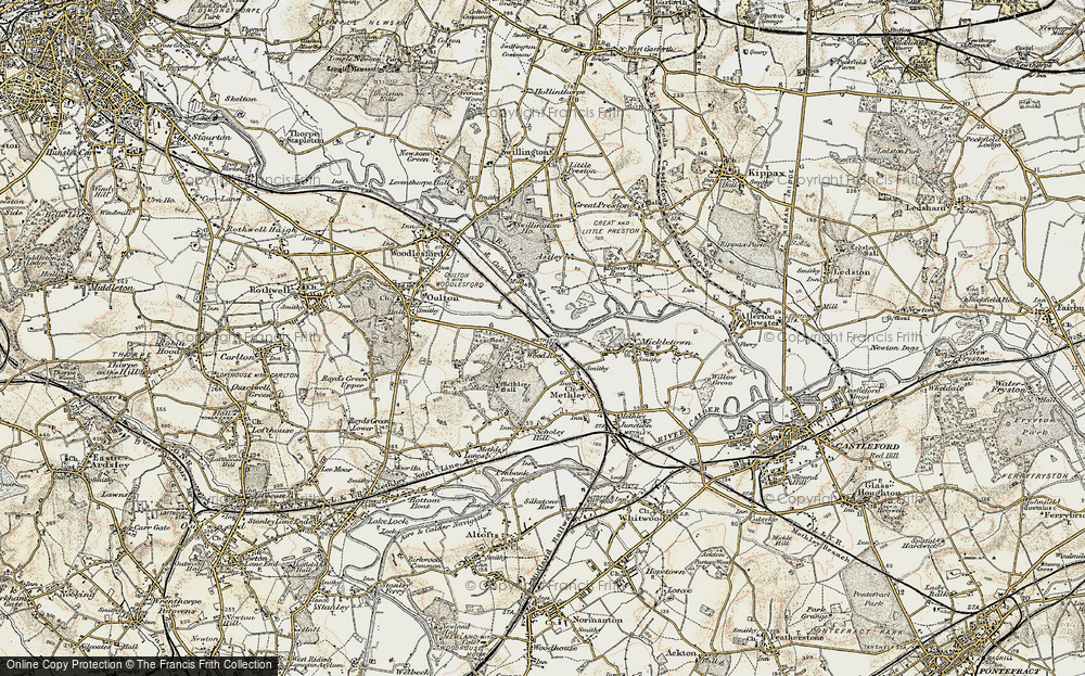 Old Map of Wood Row, 1903 in 1903
