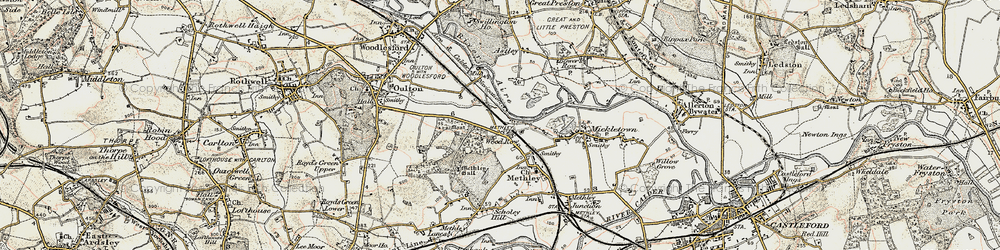 Old map of Wood Row in 1903