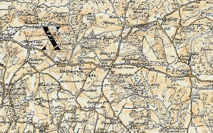 Old map of Wood's Corner in 1898