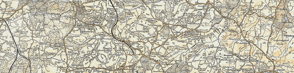 Old map of Wood's Green in 1898