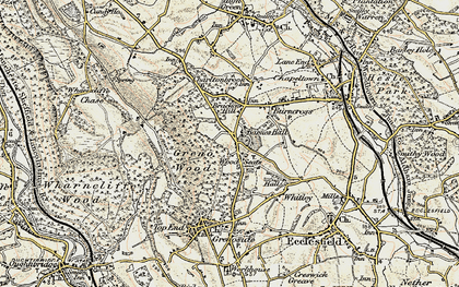 Old map of Wood Seats in 1903