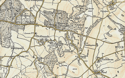 Old map of Wood Stanway in 1899-1900