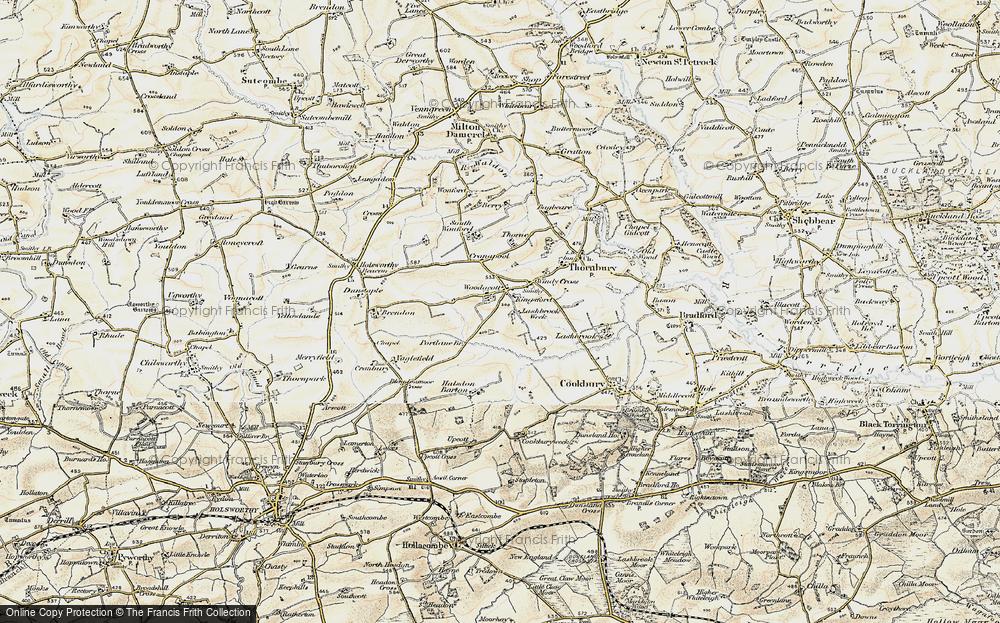 Old Map of Woodacott, 1900 in 1900