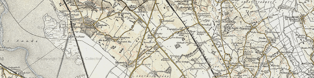 Old map of Woodbank in 1902-1903