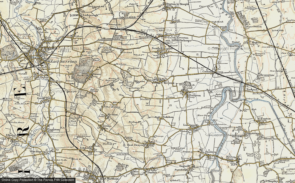 Old Map of Woodbeck, 1902-1903 in 1902-1903