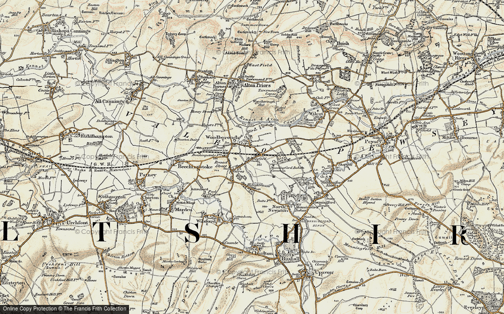 Old Map of Woodborough, 1897-1899 in 1897-1899