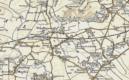 Old map of Woodborough in 1897-1899