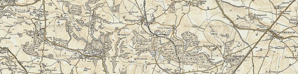 Old map of Woodbridge in 1898-1900