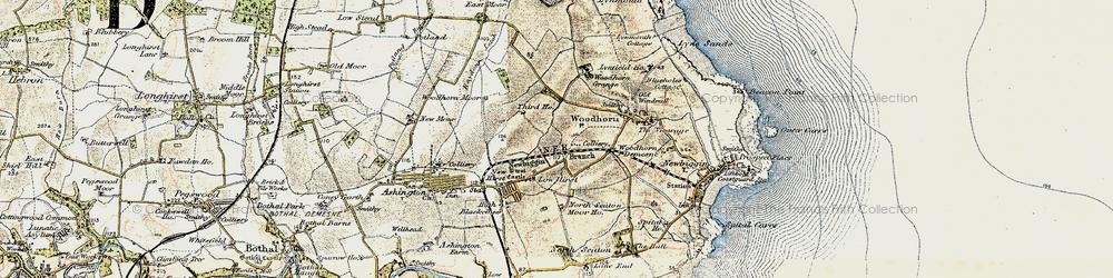 Old map of Woodbridge in 1901-1903