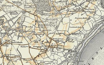 Old map of Woodbridge Walk in 1898-1901