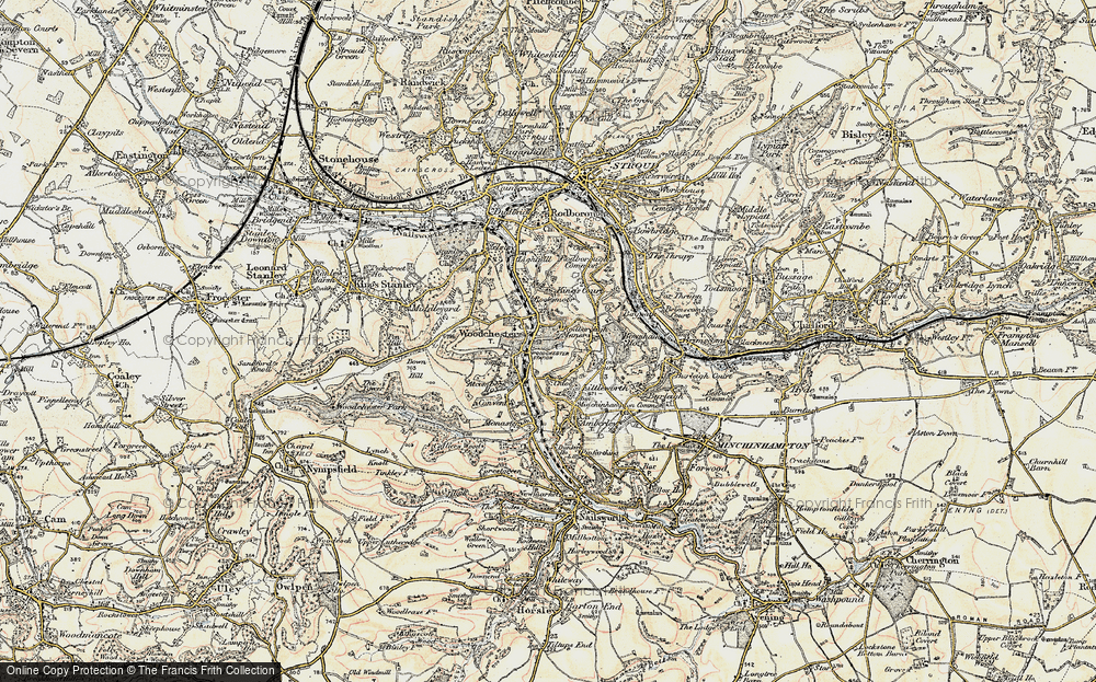 Old Map of Woodchester, 1898-1900 in 1898-1900