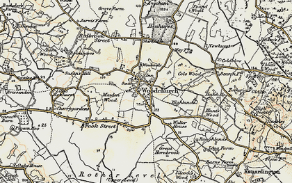 Old map of Woodchurch in 1897-1898