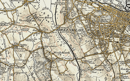 Old map of Woodchurch in 1902-1903