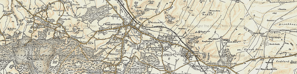 Old map of Woodcock in 1897-1899