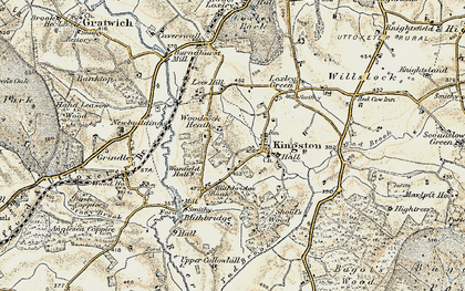Old map of Woodcock Heath in 1902