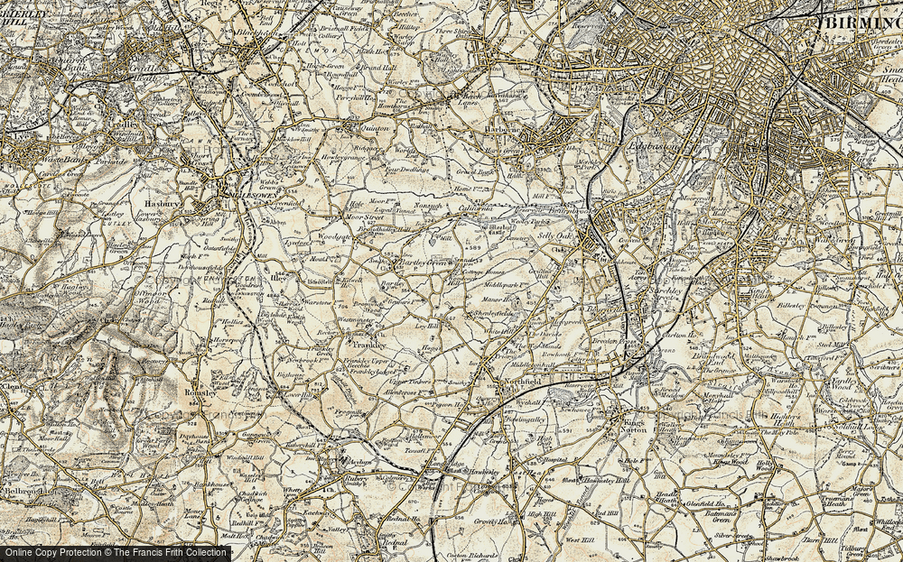 Old Map of Woodcock Hill, 1901-1902 in 1901-1902
