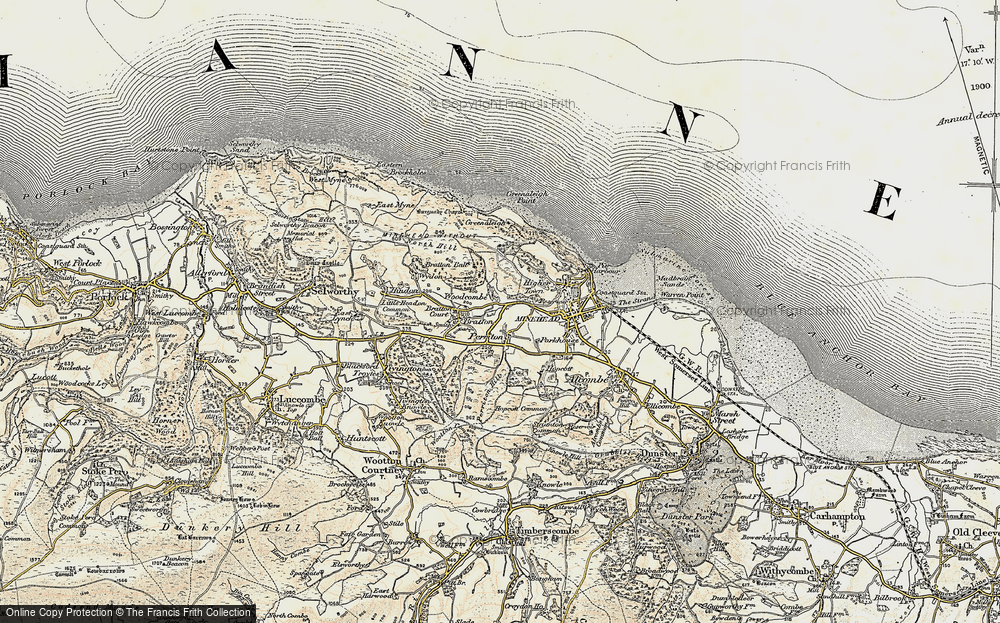 Old Map of Woodcombe, 1899-1900 in 1899-1900
