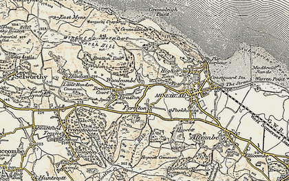 Old map of Woodcombe in 1899-1900
