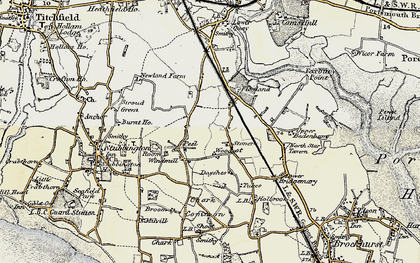 Old map of Woodcot in 1897-1899