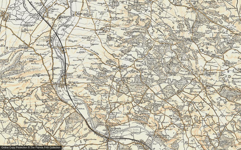 Old Map of Woodcote, 1897-1900 in 1897-1900