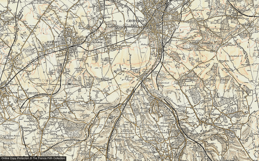 Old Map of Woodcote, 1897-1902 in 1897-1902