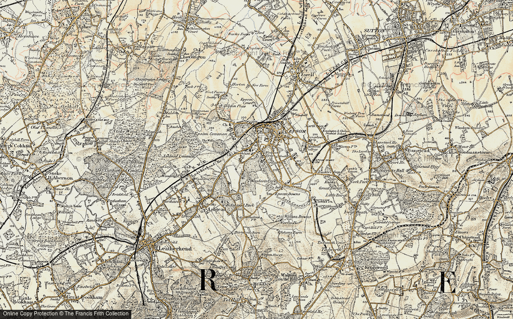 Old Map of Woodcote, 1897-1909 in 1897-1909