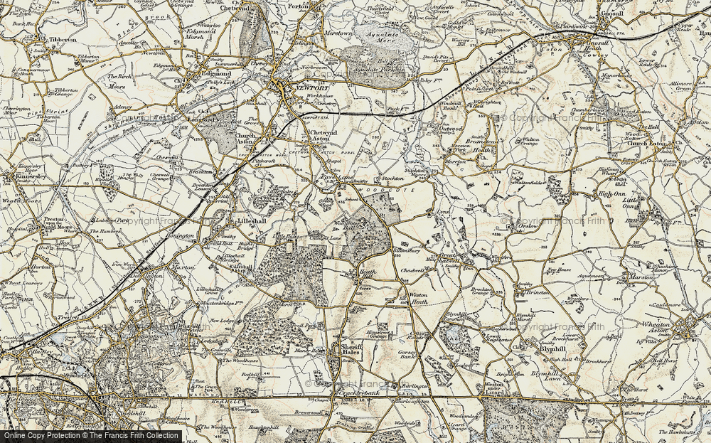 Old Map of Woodcote, 1902 in 1902