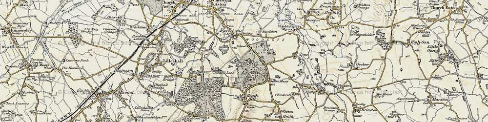 Old map of Woodcote in 1902