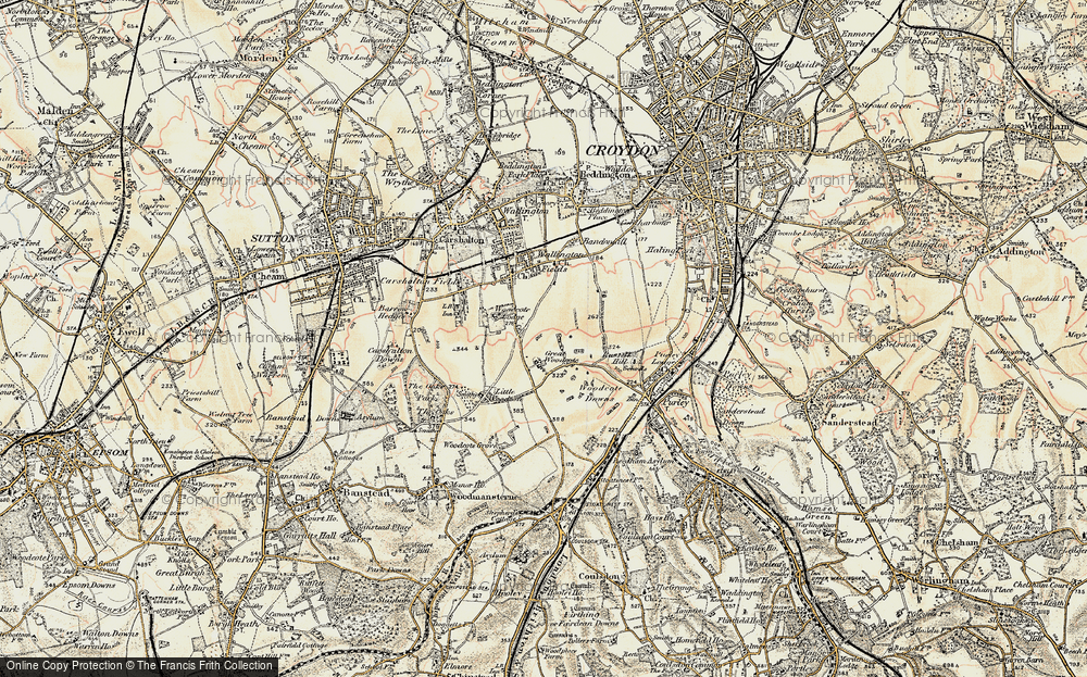 Old Map of Woodcote Green, 1897-1902 in 1897-1902