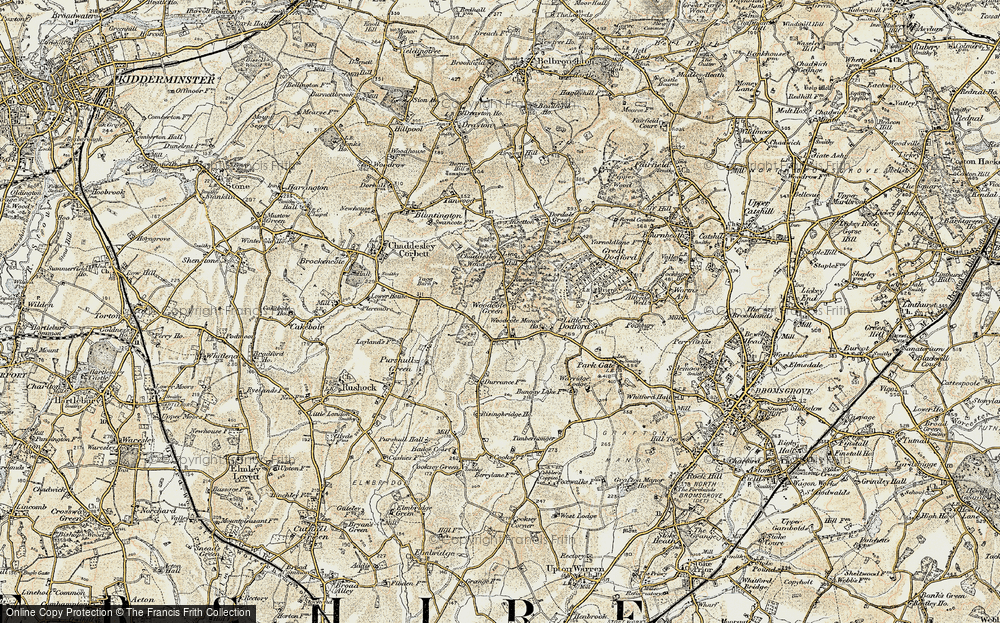 Old Map of Woodcote Green, 1901-1902 in 1901-1902