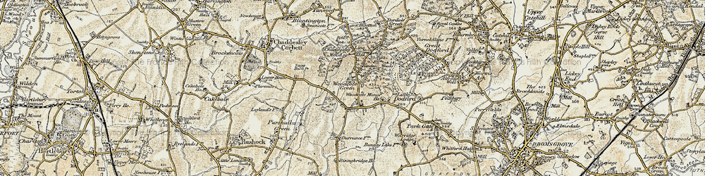 Old map of Woodcote Manor Ho in 1901-1902