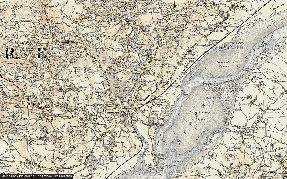 Old Map of Woodcroft, 1899-1900 in 1899-1900