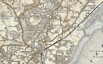 Old map of Woodcroft in 1899-1900