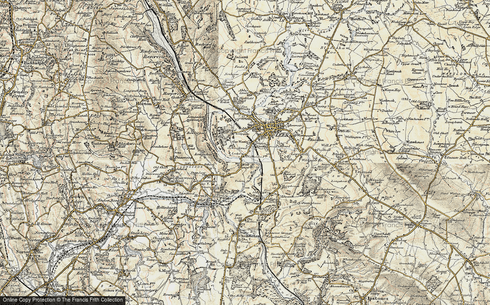 Old Map of Woodcroft, 1902-1903 in 1902-1903