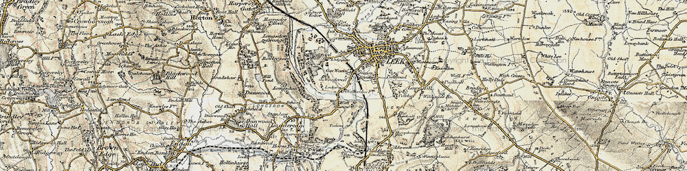 Old map of Woodcroft in 1902-1903