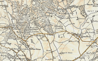 Old map of Woodcutts in 1897-1909