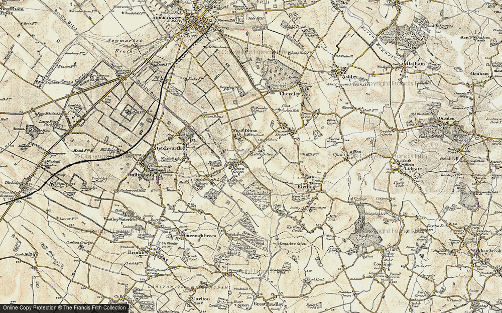 Old Map of Woodditton, 1899-1901 in 1899-1901