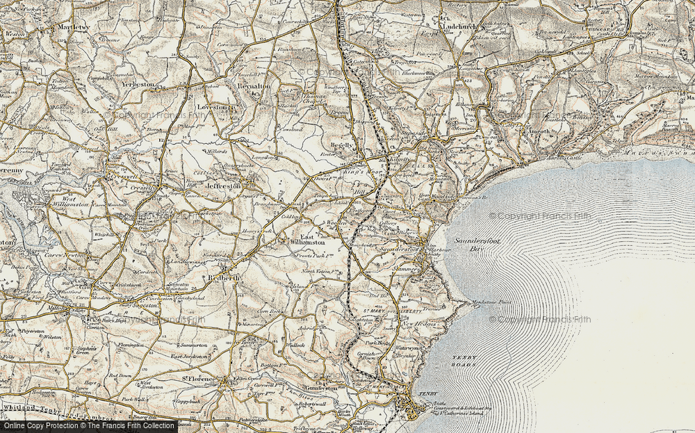 Old Map of Wooden, 1901 in 1901