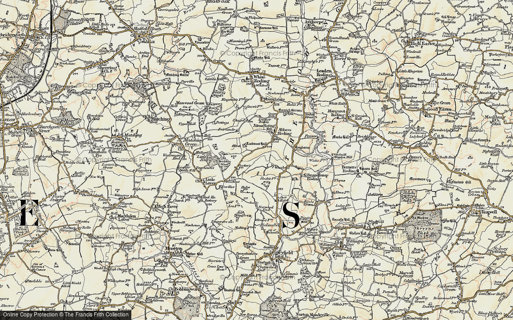 Old Map of Woodend, 1898 in 1898