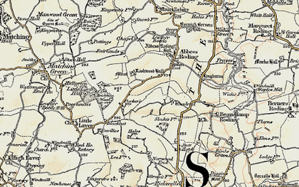 Old map of Woodend in 1898