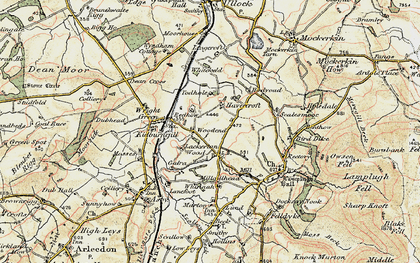 Old map of Woodend in 1901-1904