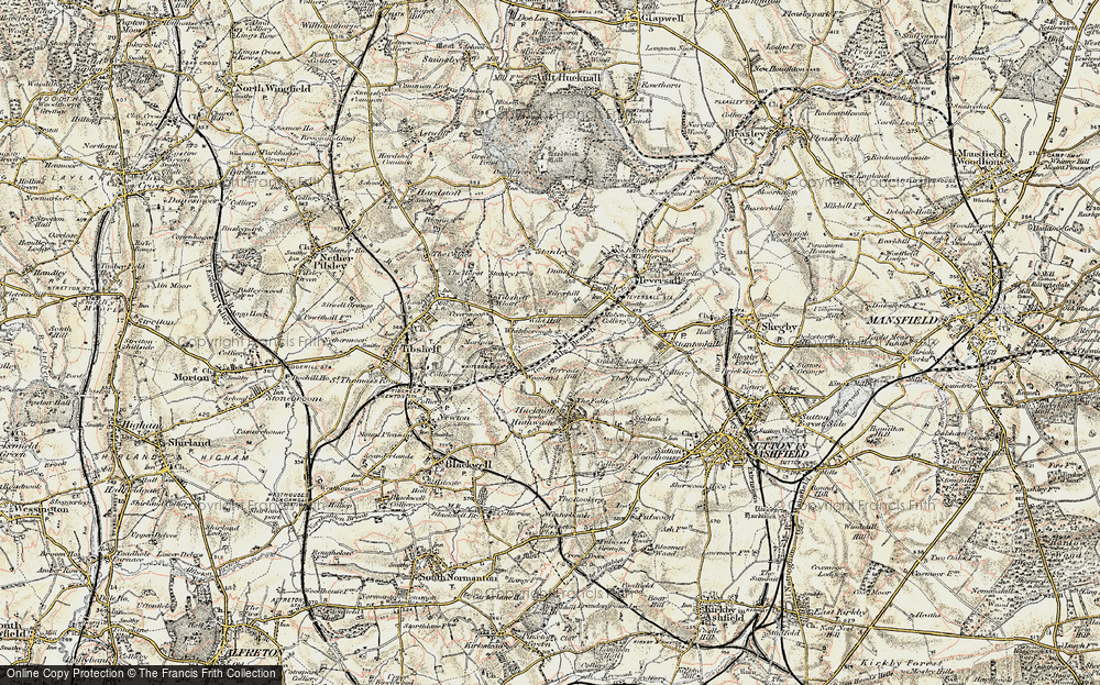 Old Map of Woodend, 1902-1903 in 1902-1903