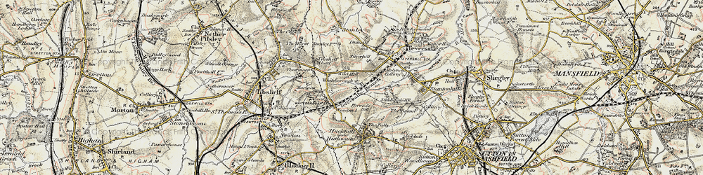 Old map of Woodend in 1902-1903